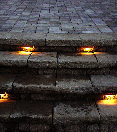 Outdoor Lights For Steps Low voltage landscapes lighting contractor installer 800 766 5259 stairs lit up by step by step lighting workwithnaturefo