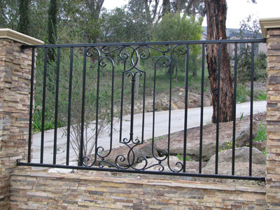 Sample Wrought Iron Fencing Design