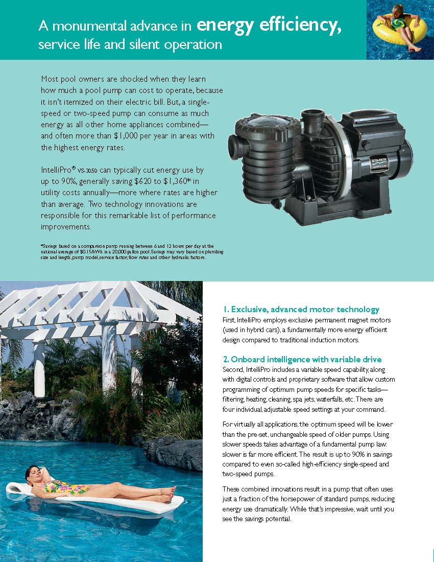 Pentair Intelliflo Vs Variable Speed Swimming Pool Pump
