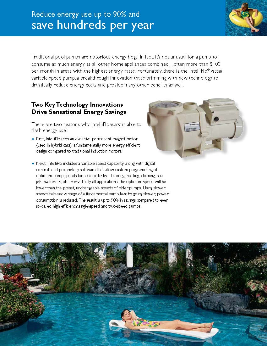 Pentair Intelliflo Vf Variable Speed Swimming Pool Pump