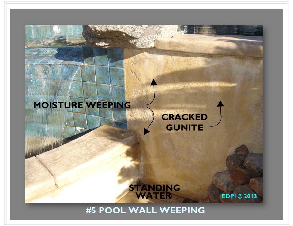 Gunite Wall Crack