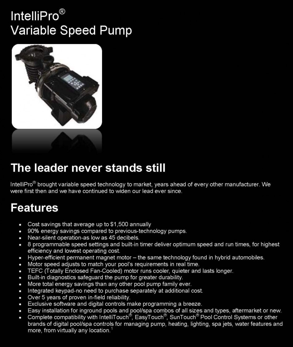 Pentair IntelliPro Pump