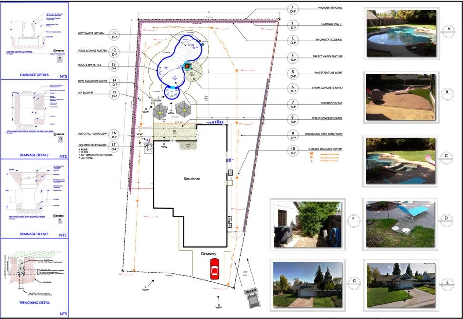 Rocklin ca landscape design architecture 916 630 7665 Residential building plan sample