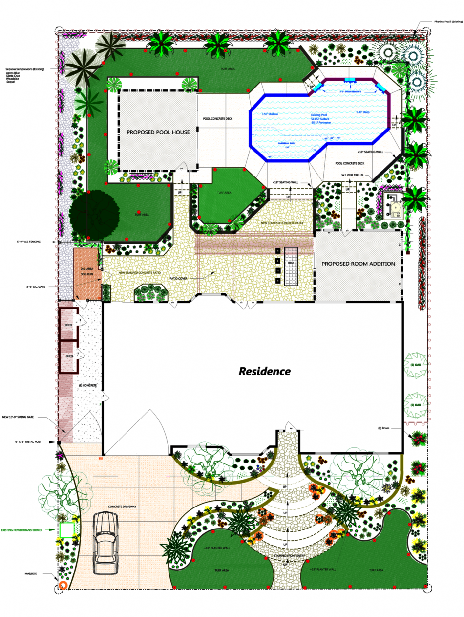 Request for landscape design rfld for Residential landscape plan