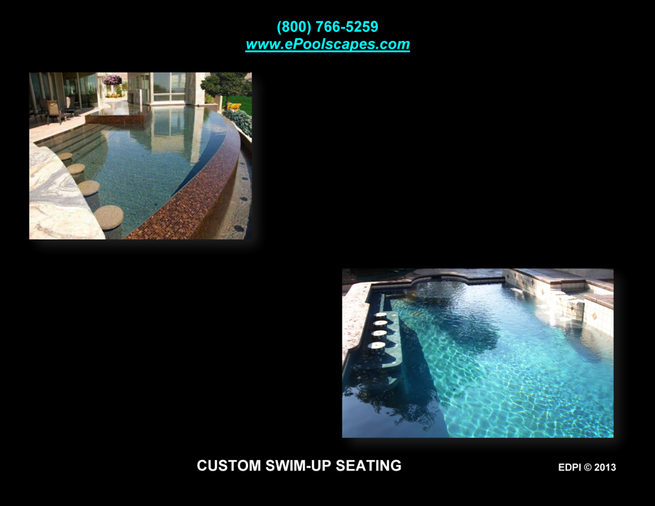 Custom Swim-Up Bar Seats