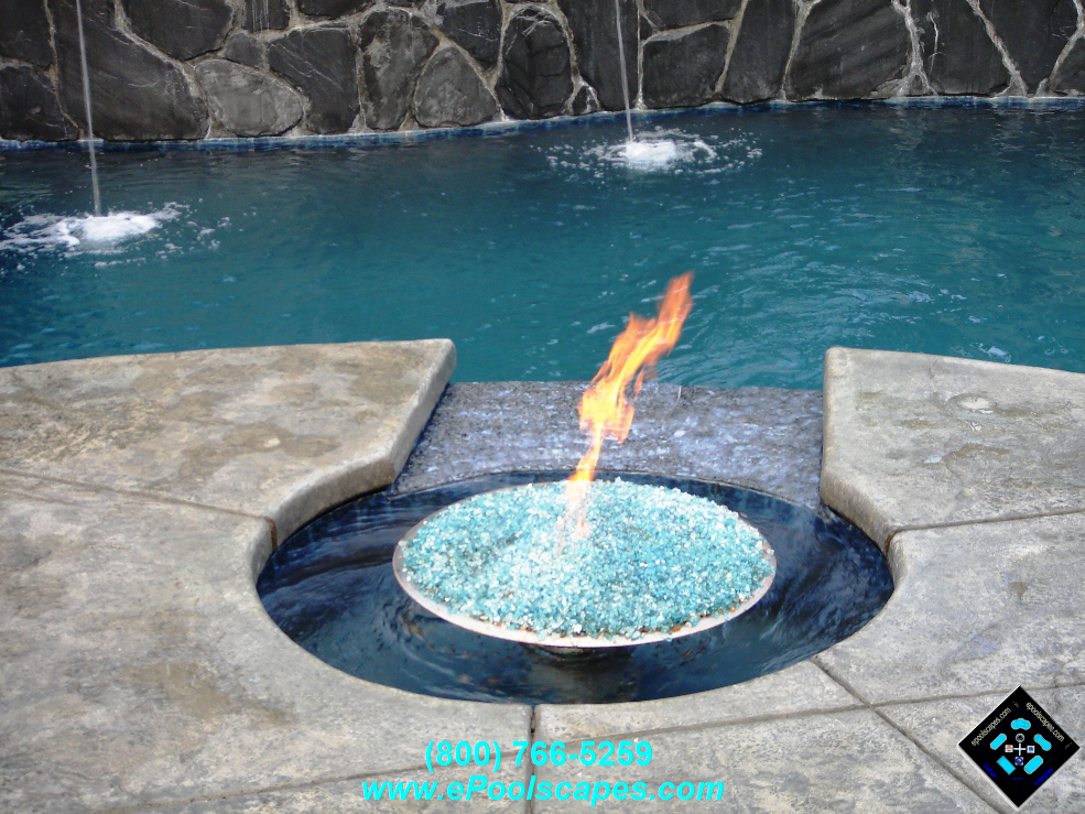 Fire Pit w-Spinning Vortex Water Feature