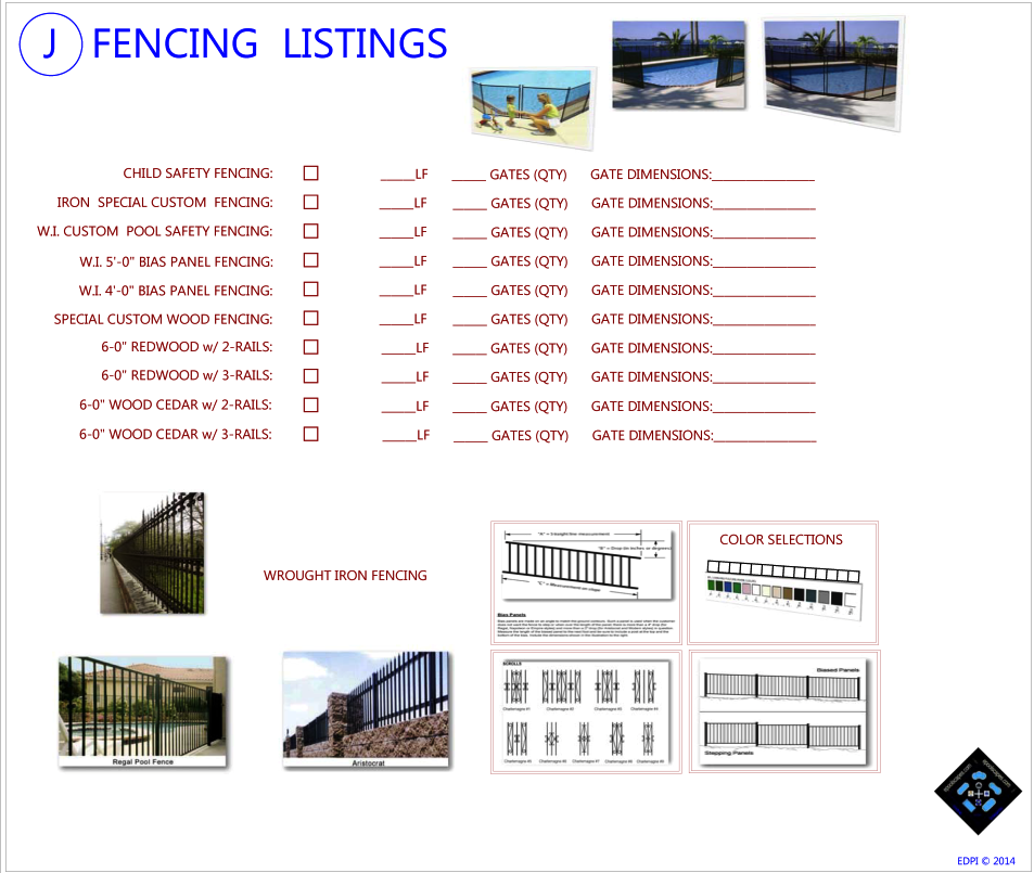 Fencing Selections