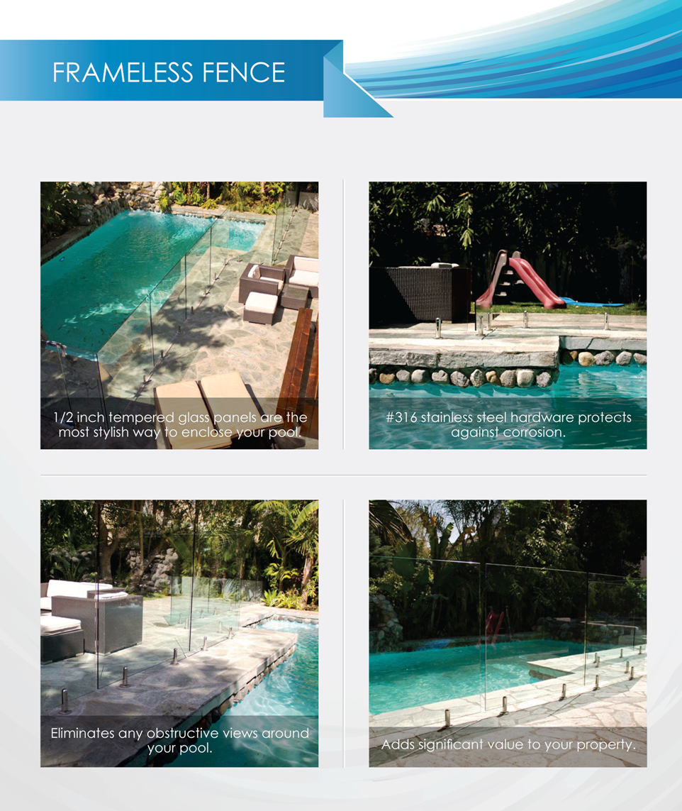 Swimming Pool Safety Fencing - Frameless
