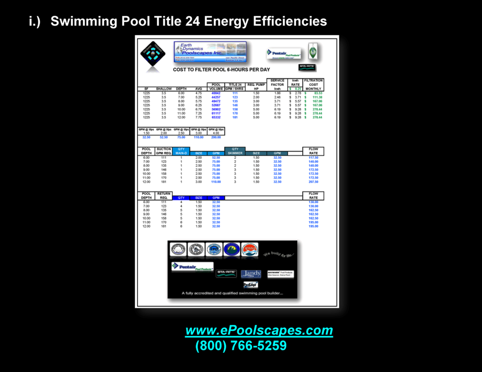 1-i Swimming Pool Title 24 Energy Efficiencies width=