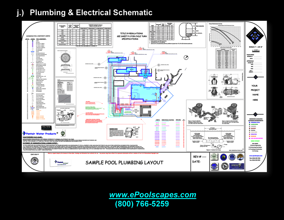 Swimming Pool Plumbing & Electrical Schematics