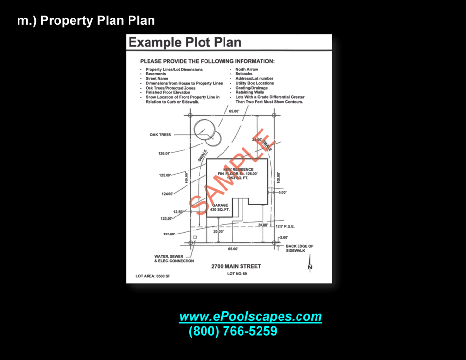 1-m Property Plot Plan