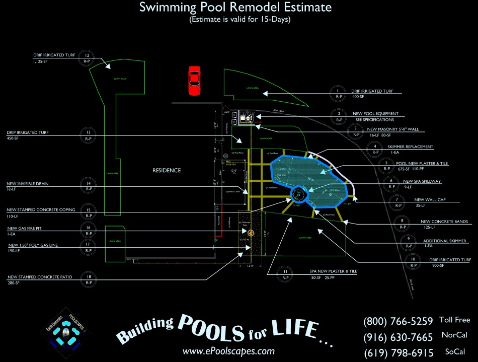 Sample Swimming Pool Estimate
