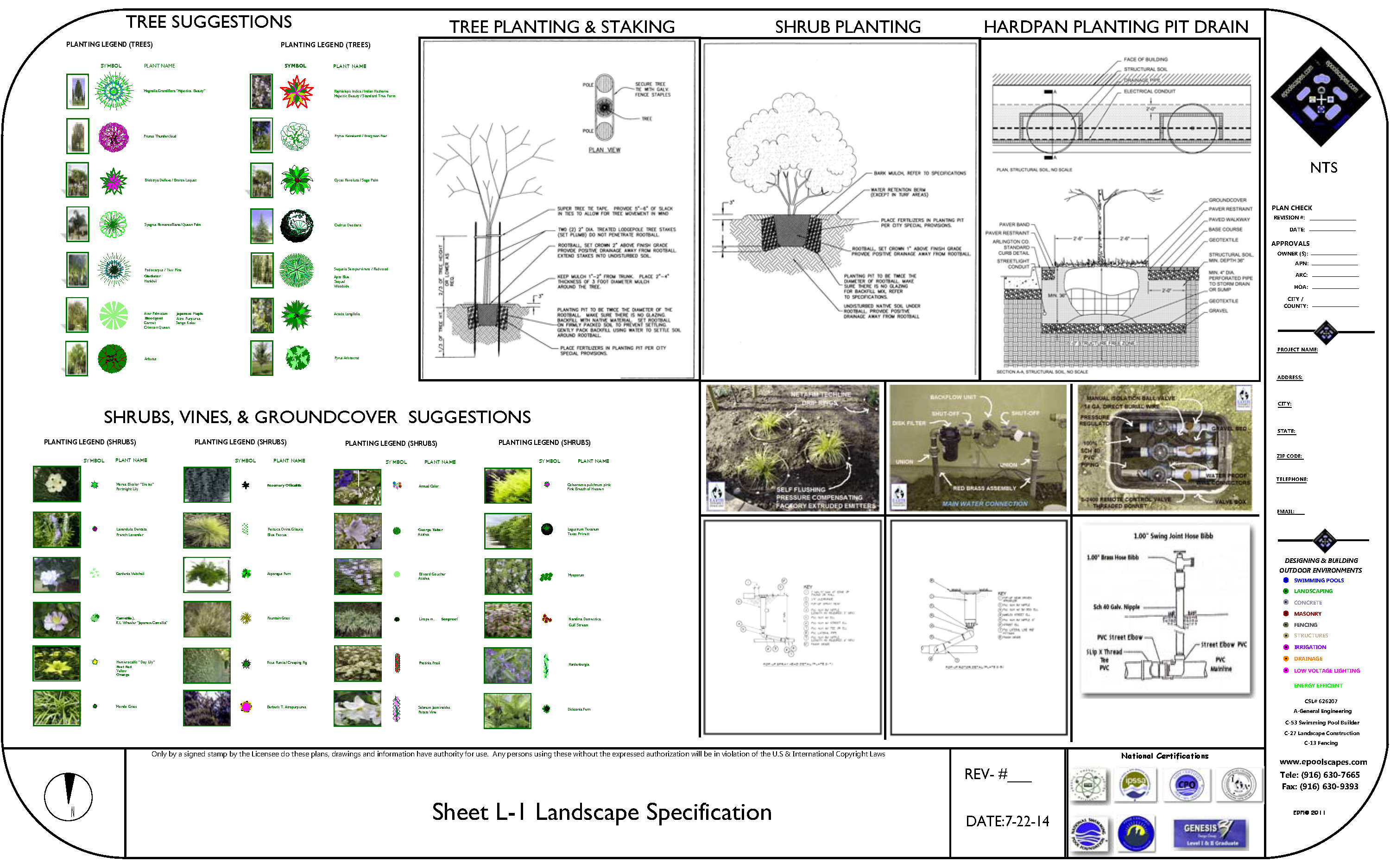 Landscape Specifications